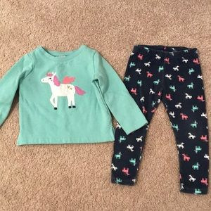 Carter's 24m unicorn outfit
